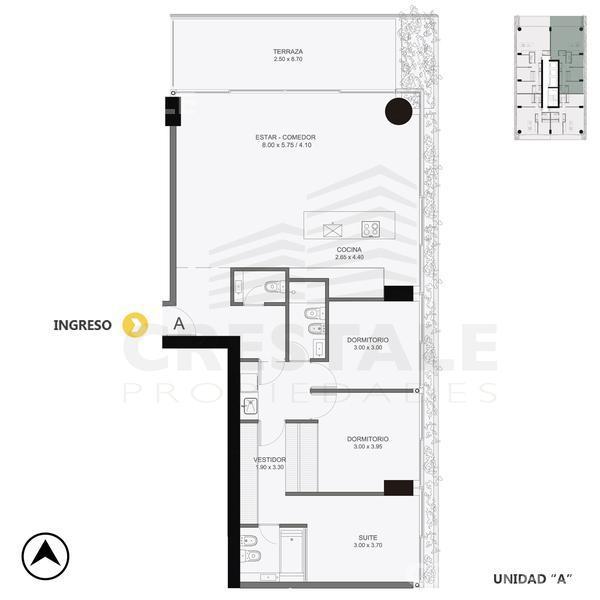 Venta departamento 3+ dormitorios Rosario, zona Pichincha. Cod CBU10856 AP1061172. Crestale Propiedades