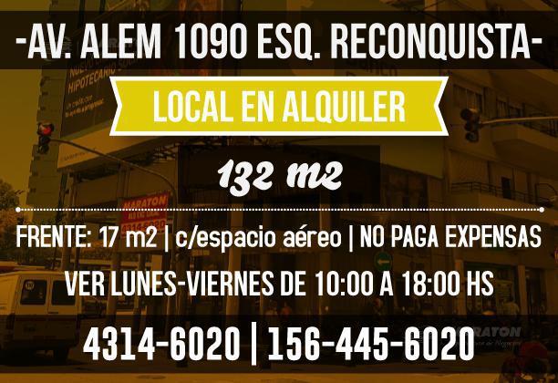 Foto Local en Alquiler en  Catalinas,  Centro  Av. L. N. Alem al 1000