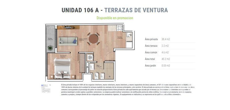 Foto Departamento en Venta en  La Blanqueada ,  Montevideo  unidad 206 A