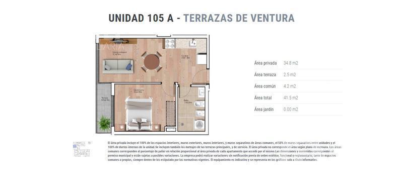 Foto Departamento en Venta en  La Blanqueada ,  Montevideo  unidad 105 A