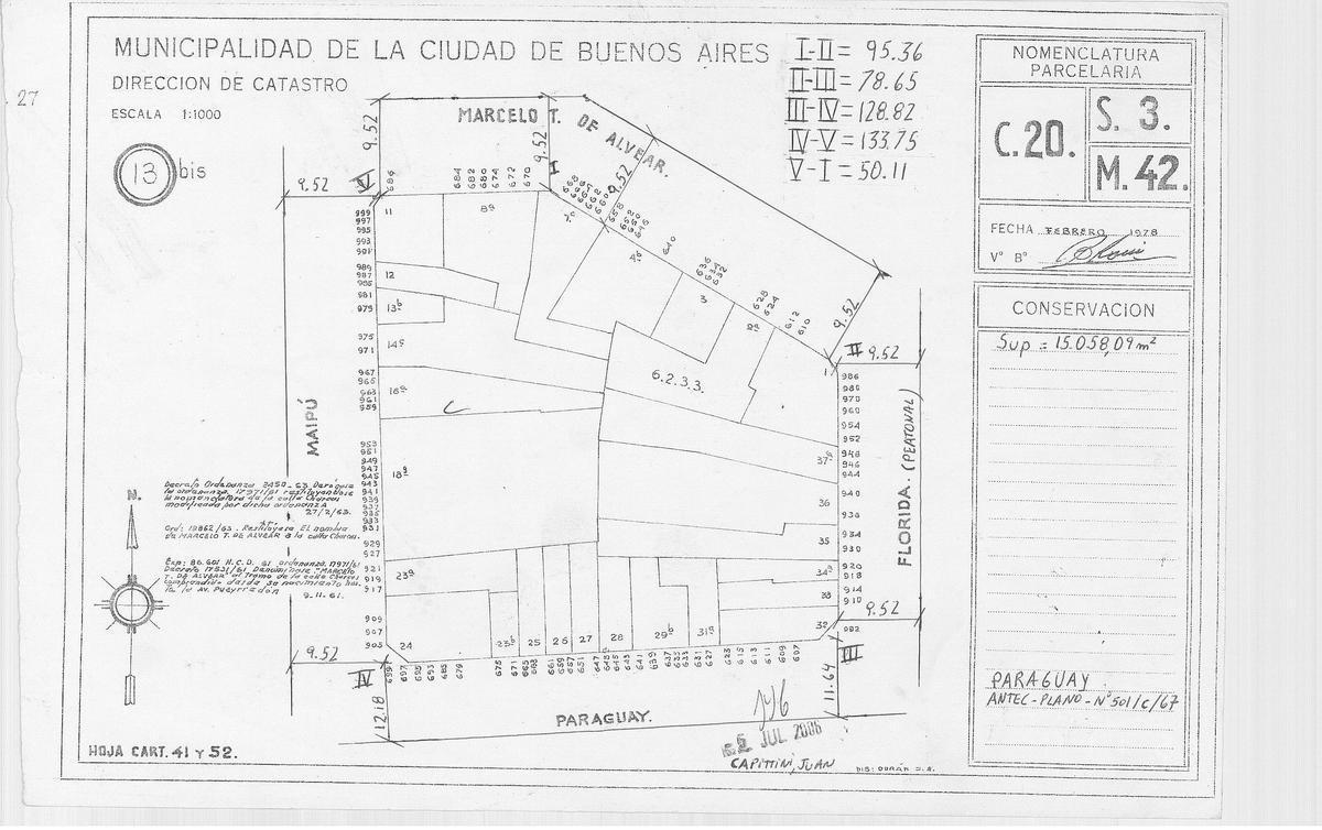 Foto Terreno en Venta en  Retiro,  Centro (Capital Federal)  Maipu al 900
