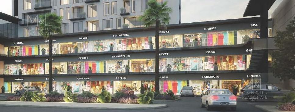 Foto Local en Venta en  Supermanzana 11,  Cancún  Locales en Venta en Cancún,  San Francisco  II Condos y  Plaza  Comercial de 73  m2, Supermanzana 11