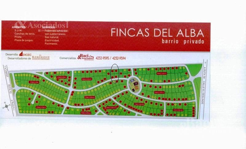 Foto Terreno en Venta en  Fincas del Alba,  Countries/B.Cerrado (Ezeiza)  Fincas del Alba
