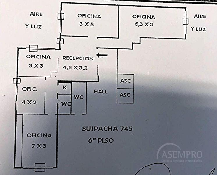 Foto Oficina en Venta | Alquiler en  Centro (Capital Federal) ,  Capital Federal  Suipacha al 700