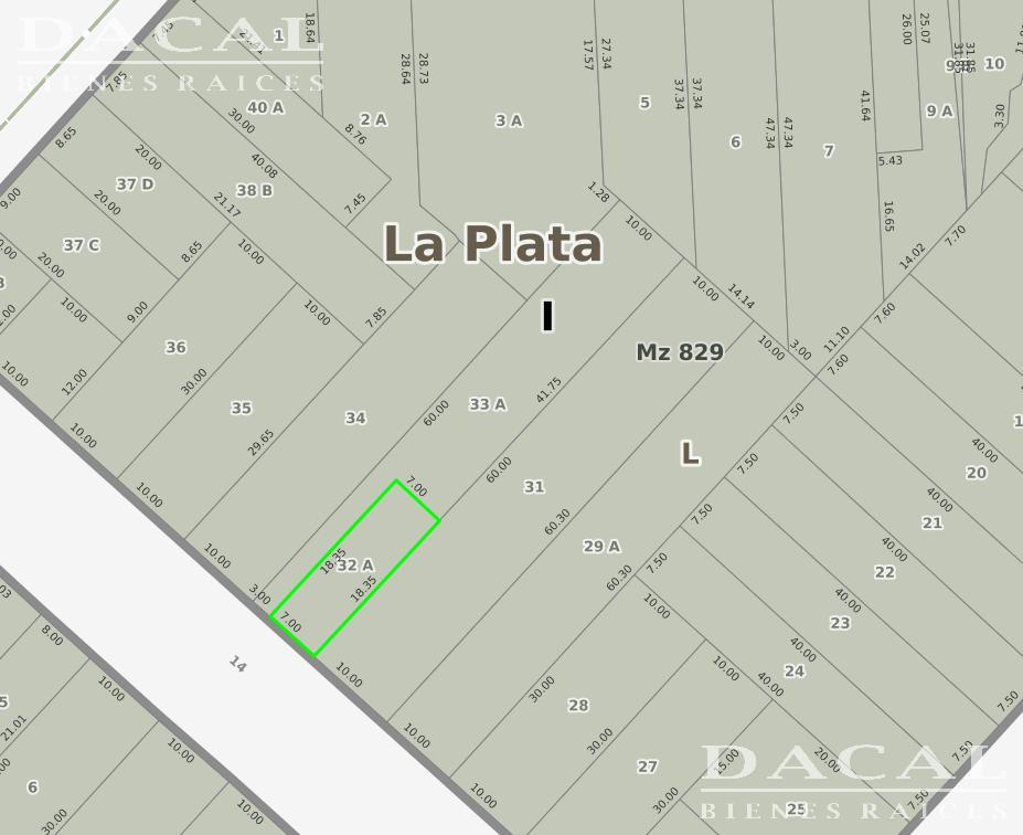 Terreno en Venta, 14 e/ 44 y 45 - La Plata - Buenos Aires