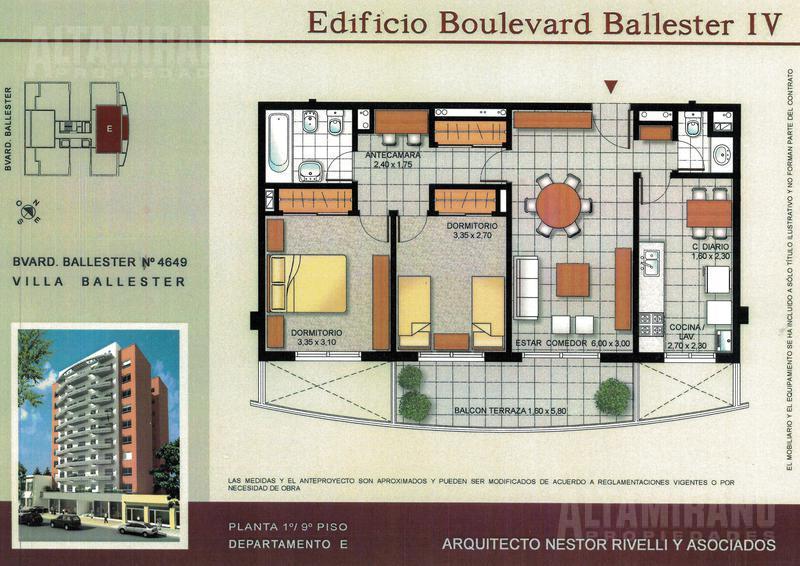 Foto Departamento en Venta en  Villa Ballester,  General San Martin  Boulevard Ballester al 4600 entre Alvear y Pueyrredón