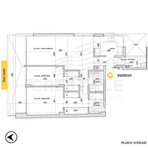 Venta departamento 2 dormitorios Rosario. Cod CBU7778 AP1045420. Crestale Propiedades