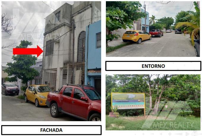 Foto Departamento en Venta en  Cancún,  Benito Juárez  CLAVE 59241, EDIFICIO-DEPARTAMENTOS 3 NIVELES, SM 74, LOMBARDO TOLEDANO, CANCUN, Q. ROO,  ESCRITURA SIN POSESION, $1,612,000.00, SOLO CONTADO MUY NEGOCIABLE