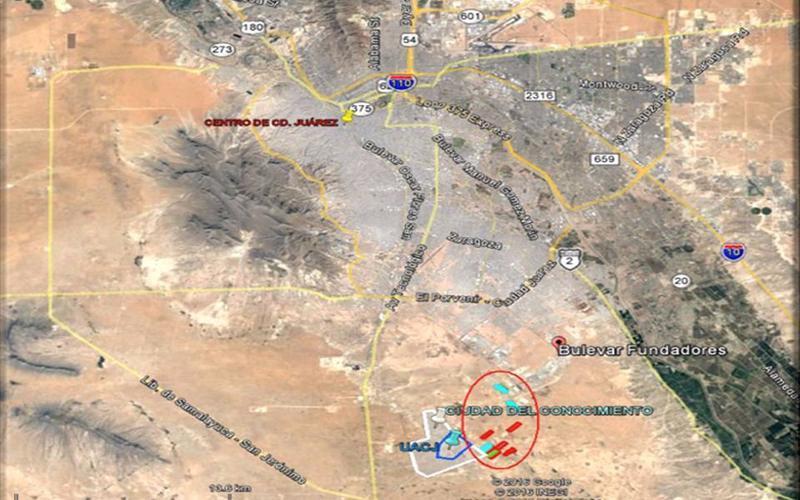 Foto Terreno en Venta en  Juárez ,  Chihuahua          Cd. Juárez, Chih.,  79ha, zona de Universidades,