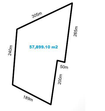 Sobre Periférico Salida a Cholul Terreno de 57,899.10m2 en Venta