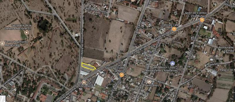 Foto Terreno en Venta en  San Juan Teotihuacan de Arista,  Teotihuacán  Terreno en venta sobre avenida en Teotihuacan