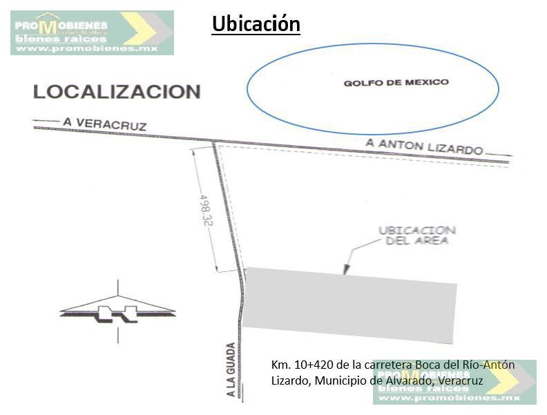 Foto Terreno en Venta en  Alvarado ,  Veracruz  TERRENO PARA INVERSIONISTAS EN VENTA, CARRETERA BOCA DEL RÍO-ANTON LIZARDO