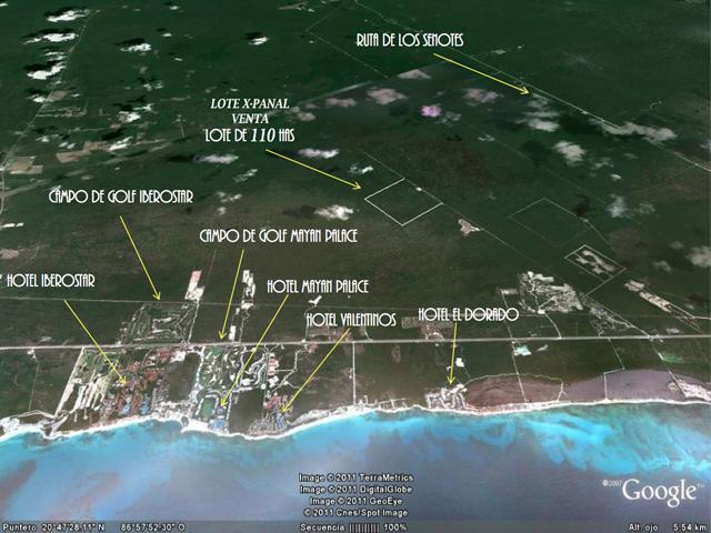 Foto Terreno en Venta en  Solidaridad ,  Quintana Roo  110 Hectareas en Venta Riviera Maya