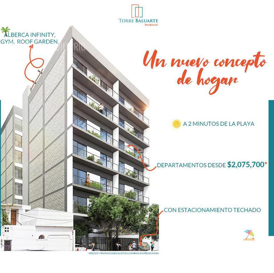 Foto Departamento en Venta en  Palos Prietos,  Mazatlán  DEPARTAMENTO TORRE BALUARTE MAZATLAN A 2 CUADRAS DE PLAYA