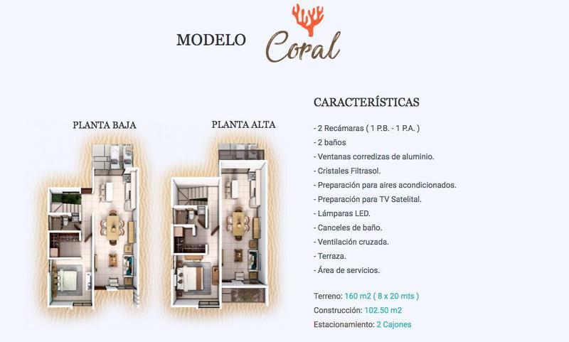 Foto Casa en Venta |  en  Pueblo Chelem,  Progreso  Casa residencial de playa modelo Coral