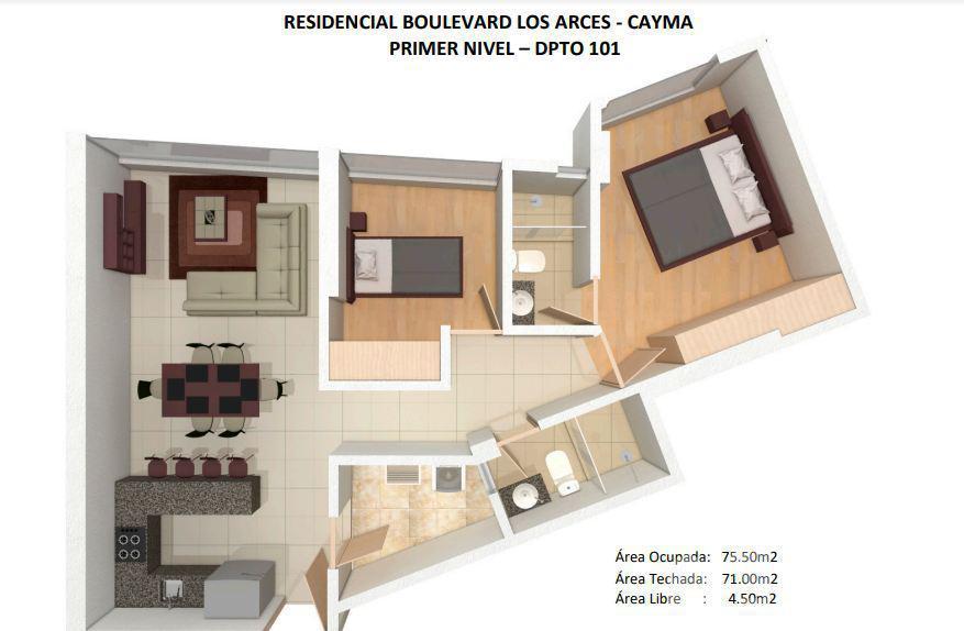 Foto Departamento en Venta en  Cayma,  Arequipa  DEPA BOULEVARD CAYMA 101