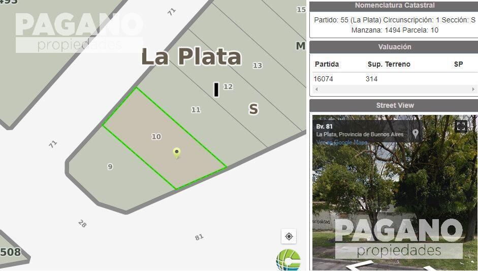 Foto Terreno en Venta en  La Plata ,  G.B.A. Zona Sur  71 n° 1642 entre 27 y 28