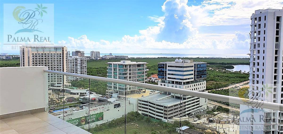 Foto Departamento en Renta en  Supermanzana 2 Centro,  Cancún  ESPECTACULARES VISTAS DESDE LA TERRAZA