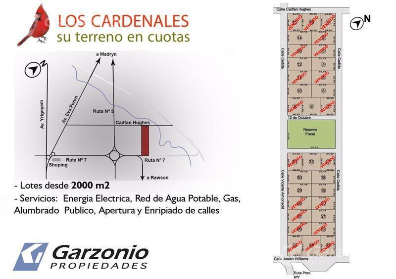 Foto Terreno en Venta en  Trelew ,  Chubut  $450.000 y 60 cuotas de $30.000 (ajustada por el CAC)