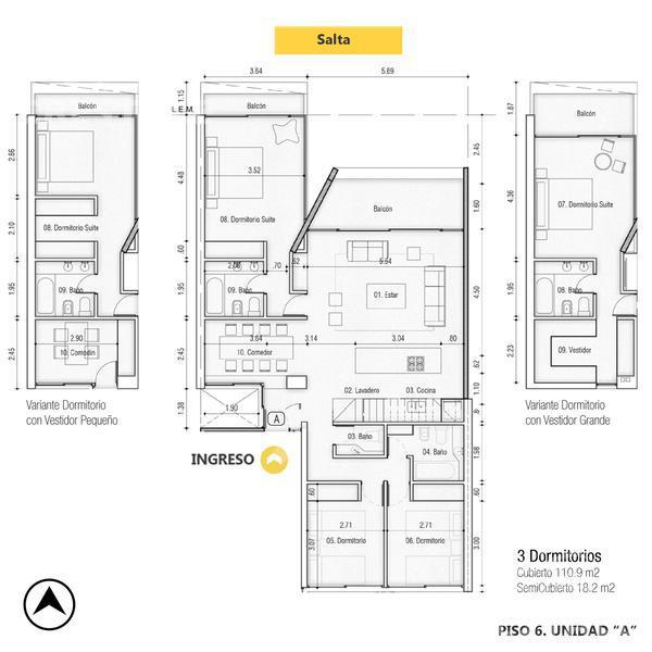 Venta departamento 3+ dormitorios Rosario, zona Pichincha. Cod CBU13348 AP1280735. Crestale Propiedades
