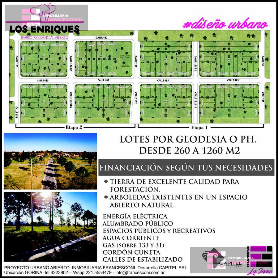 Foto Terreno en Venta en  Joaquin Gorina,  La Plata  133 e/ 482 y 483