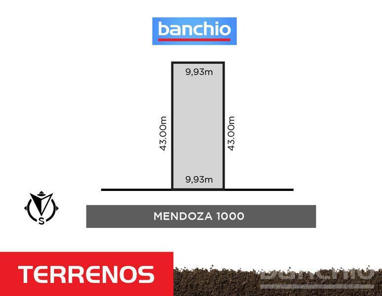 MENDOZA al 1000, Rosario, Santa Fe. Venta de Terrenos - Banchio Propiedades. Inmobiliaria en Rosario
