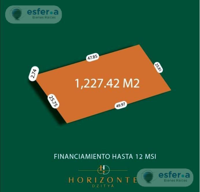 Foto Terreno en Venta en  Pueblo Dzitya,  Mérida  Terrenos en venta en Merida, Urbanizados y planes de financiamiento Horizonte Dzitya