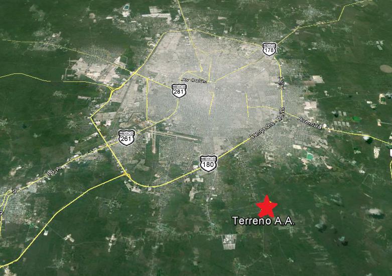 Tahdzibichen Terreno en Venta a pie de carretera de 57,108m2 (CS)