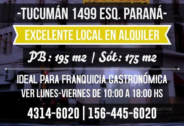 Foto Local en Alquiler en  Tribunales,  Centro  Tucumán al 1400