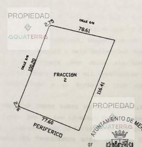 Terreno de 8,756.66 sobre periférico al Norte de Mérida
