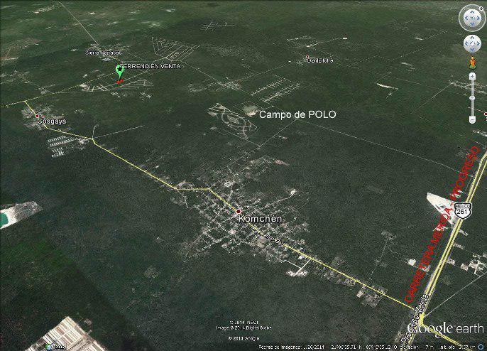 Residencial Xcambó Komchen Venta de terreno de  7,716.76m2 (CS)