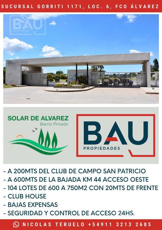 Foto Casa en Venta en  Solar de Álvarez,  Francisco Alvarez  BARRIO PRIVADO SOLAR DE ÁLVAREZ CONDOMINIOS