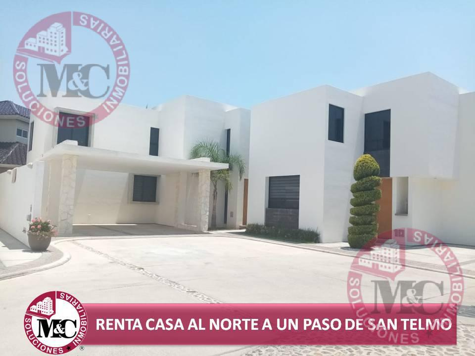 Foto Casa en Renta en  Condominio Santa Fe,  Aguascalientes  CASA EN RENTA AL NORTE A UN PASO DE SAN TELMO EN AGUASCALIENTES