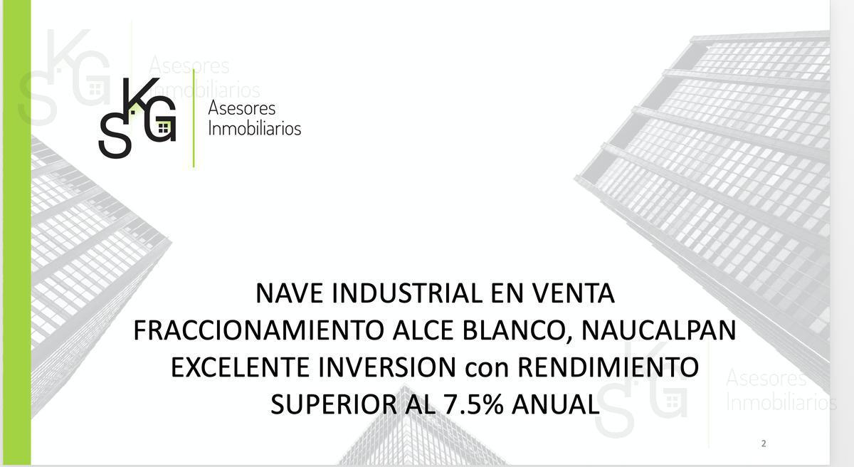 Foto Nave Industrial en Venta en  Industrial Alce Blanco,  Naucalpan de Juárez  SKG Asesores Inmobiliarios Venden Bodega Industrial en Norte Sur 8, Industrial Alce Blanco