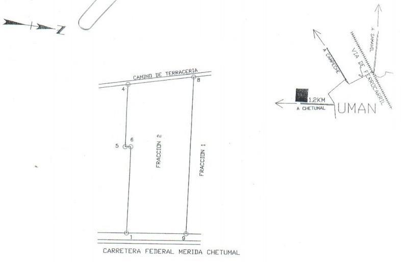 Venta de terreno de 50,355.045 m² en UMAN