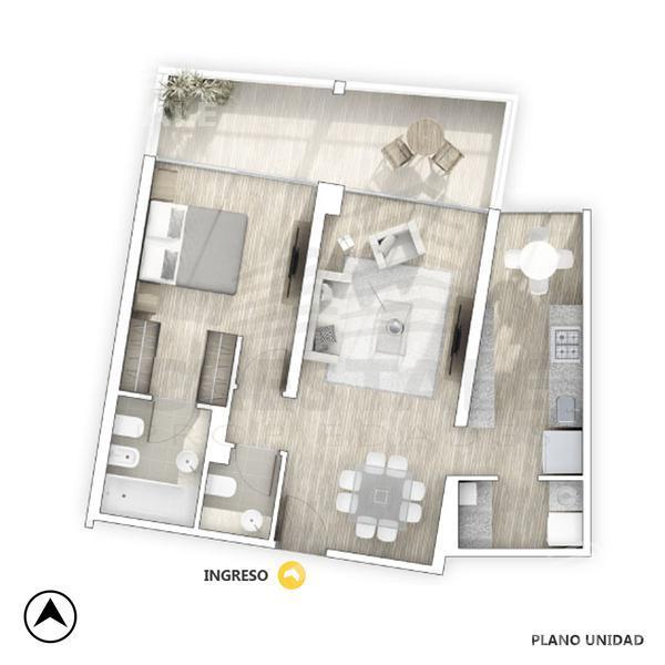 Venta departamento 1 dormitorio Rosario, zona Alberdi. Cod 4816. Crestale Propiedades