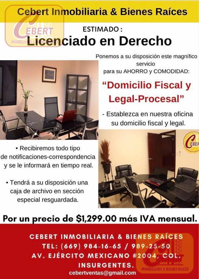 Foto Oficina en Renta en  Mazatlán ,  Sinaloa  ESTABLEZCA EN NUESTRA OFICINA SU DOMICILIO FISCAL-LEGAL