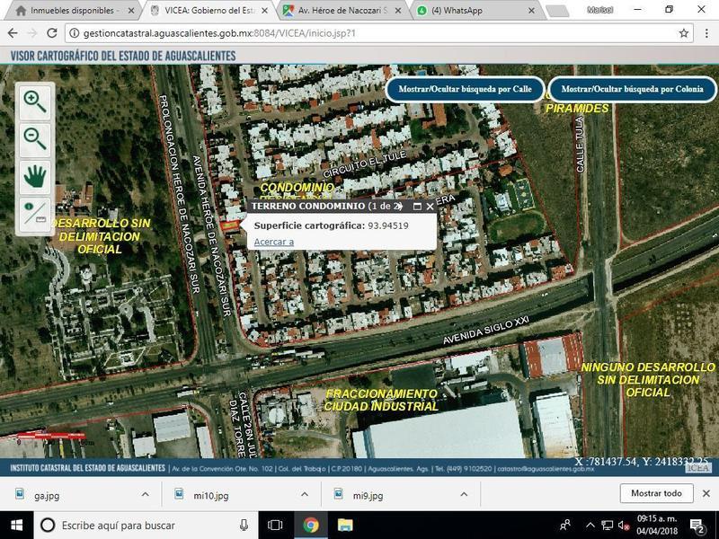 Foto Terreno en Renta en  Fraccionamiento Residencial del Parque,  Aguascalientes  M&C RENTA TERRENO EN RESIDENCIAL DEL PARQUE, AL SUR AGS