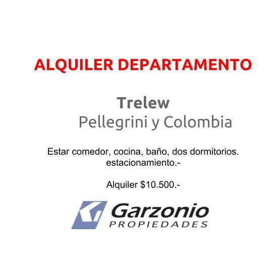 Foto Departamento en Alquiler en  Trelew ,  Chubut  Pellegrini y Colombia