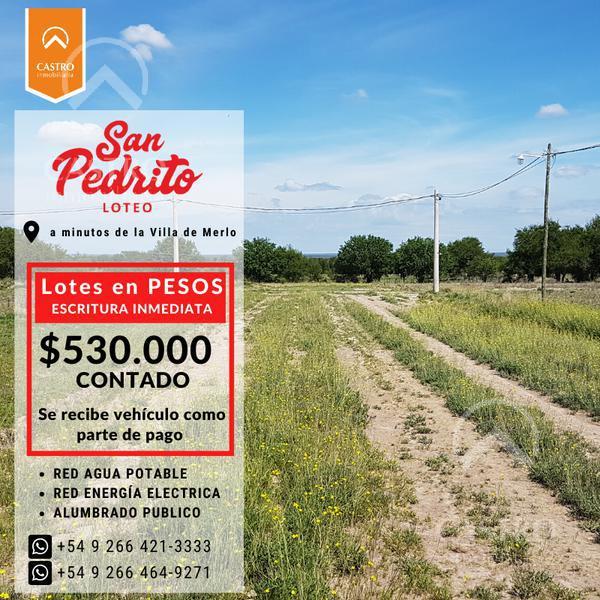Foto Terreno en Venta en  Santa Rosa De Conlara,  Junin  Lotes en pesos! Santa Rosa