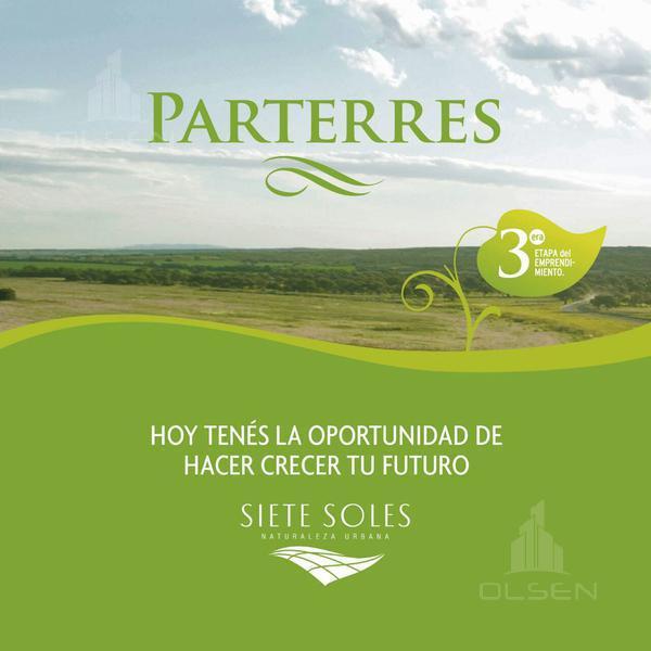 Foto Terreno en Venta en  Siete Soles,  Malagueño  SIETE SOLES - PARTERRES
