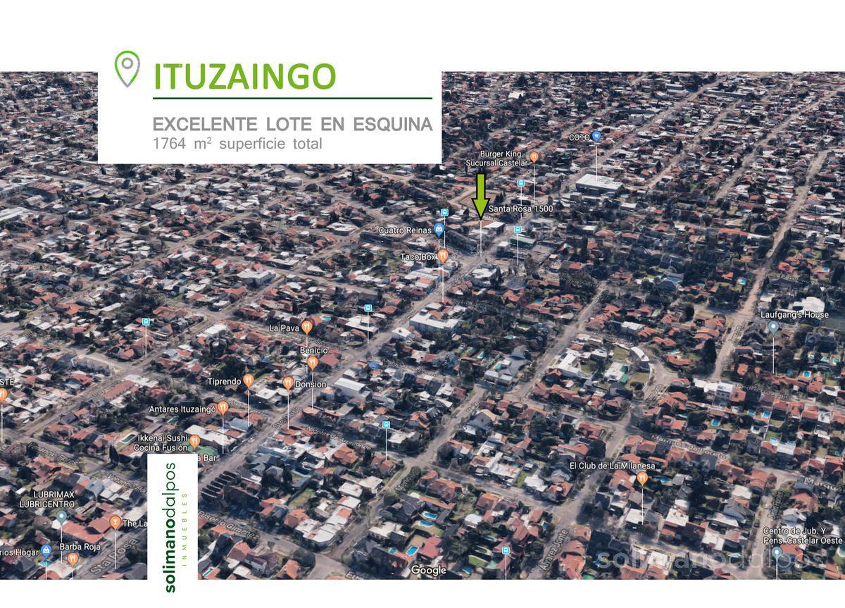 Foto Terreno en Venta | Alquiler en  Ituzaingó Centro,  Ituzaingo  Santa Rosa al 1500