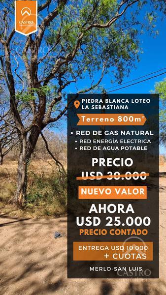 Foto Terreno en Venta en  La Sebastiana,  Merlo  Calle Los Olivares, con red de gas natural