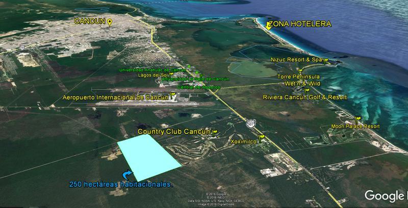 Foto Terreno en Venta en  Fraccionamiento El Pedregal,  Banderilla  Terreno en Venta en Cancun, Benito Juarez, Quintana Roo. Para desarrolladores de vivienda.