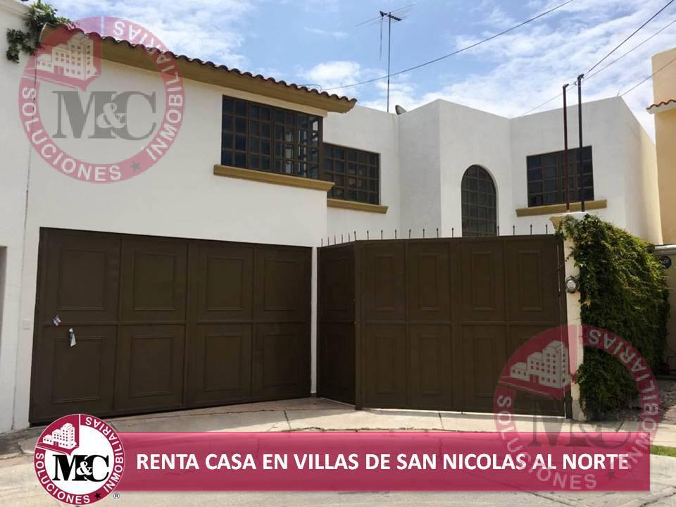 Foto Casa en Renta en  Fraccionamiento Villas de San Nicolás,  Aguascalientes  CASA EN RENTA EN VILLAS DE SAN NICOLÁS ZONA NORTE EN AGUASCALIENTES