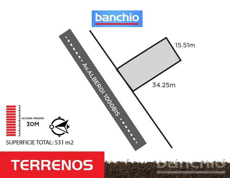 Av. Alberdi al 1000, Rosario, Santa Fe. Venta de Terrenos - Banchio Propiedades. Inmobiliaria en Rosario