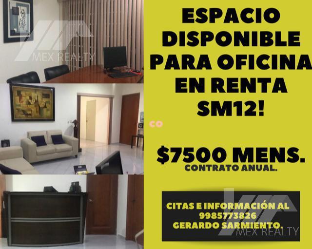 Foto Oficina en Renta en  Benito Juárez ,  Quintana Roo  ESPACIO DISPONIBLE EN RENTA PARA OFICINA SM 12, CANCUN Q. ROO