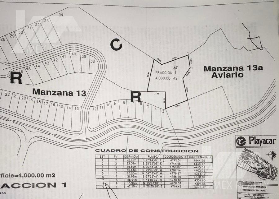 Foto Terreno en Venta en  Fraccionamiento Playa Car Fase II,  Playa del Carmen  TERRENO CONDOMINAL FRENTE AL CAMPO DE GOLF EN PLAYA CAR FASE 2 PARA 42 DEPARTAMENTOS