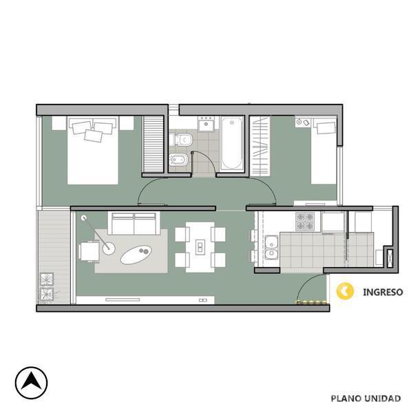 Venta departamento 2 dormitorios Rosario, zona Centro. Cod CAP1138399. Crestale Propiedades