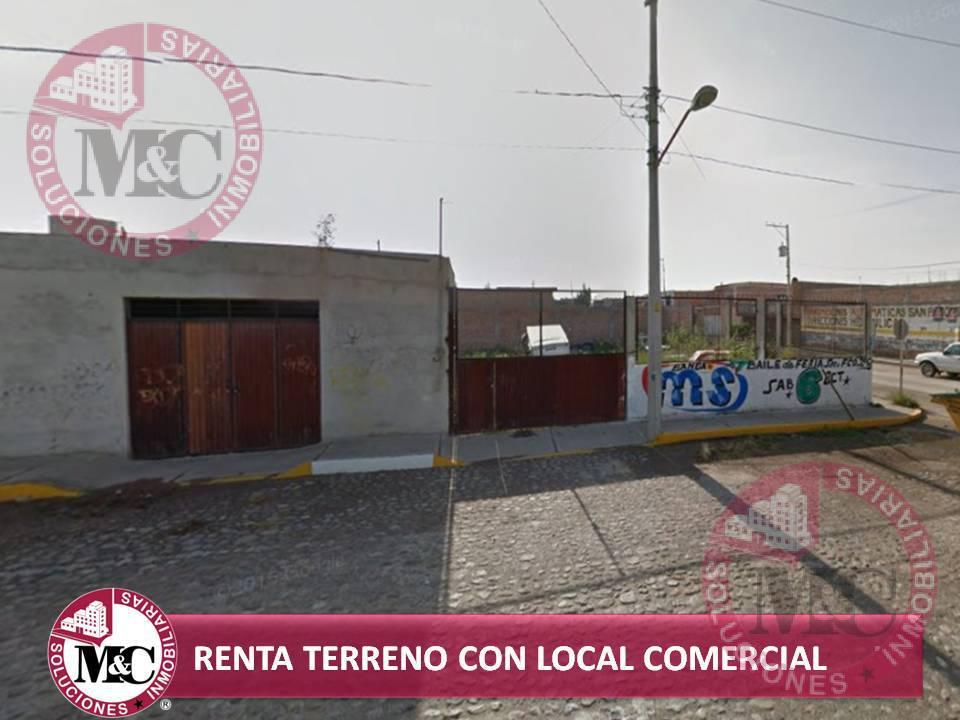 Foto Terreno en Renta en  Fraccionamiento Hidalgo,  San Francisco de los Romo  MC RENTA TERRENO CON LOCAL COMERCIAL EN SAN FRANCISCO DE LOS ROMOS